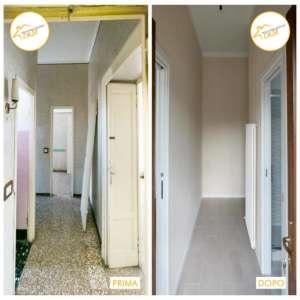 Renovierung von Häusern mit neuem Eingangsraum