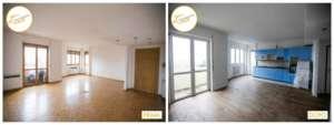 Renovierung Häuser neues Zimmer renoviertes Parkett