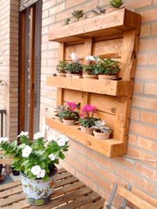 Paletten Blumen-Holz