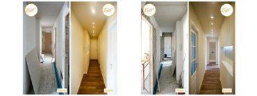 prima e dopo ristrutturazione case ingresso parquet
