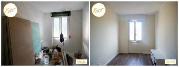 prima e dopo la ristrutturazione interno parquet