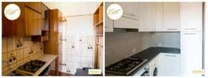 Renovierung von Häusern in einer gemütlichen neuen Küche