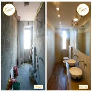 Renovierung Häuser nach Hause gemütliches Badezimmer Parkett