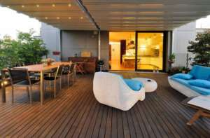 Terrasse-Raum-Holz