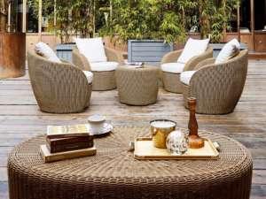 Terrasse Holzstühle