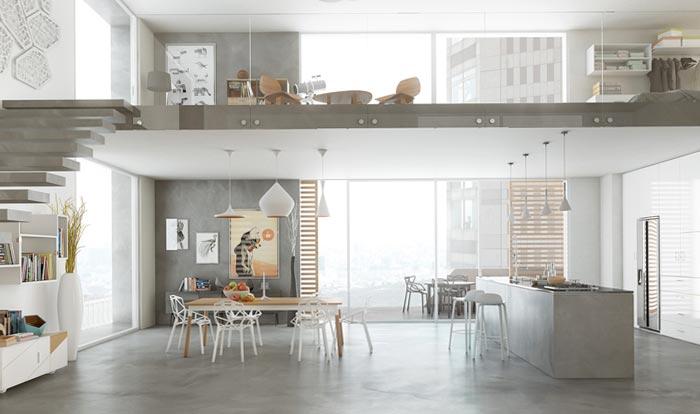 Renovation of resin floor houses
