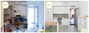 Renovierung von Häusern, Schlafzimmer, Küche