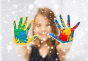 Farblich Emotionen-Hände