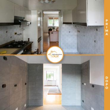 prima e dopo ristrutturazione case milano appartamento cucina soggiorno