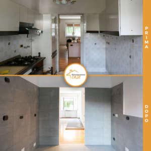 vor und nach der renovierung häuser mailand küche wohnzimmer wohnung