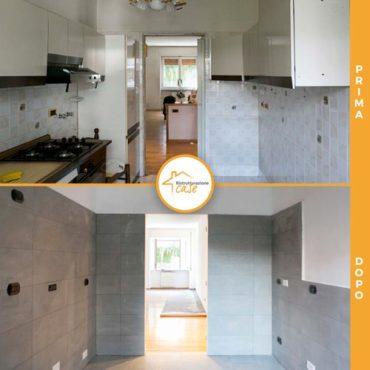 Ristrutturazione case totale appartamento cucina nuova 73mq