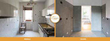 prima-e-dopo-ristrutturazione-case-milano-appartamento-cucina moderna piastrelle