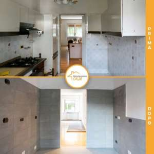 Renovation of apartment houses 70 square meters kitchen