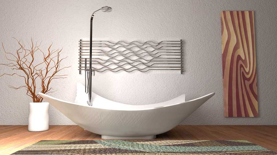 tub-with-frame-and-radiator-ristrtutturazione-homes