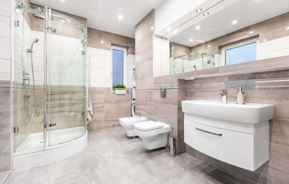 A perfectly renovated bathroom