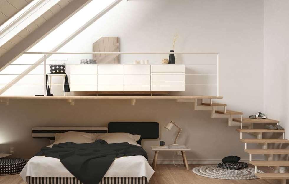Reestructura y de ahorro de espacio-casa-pequeña